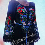 Одежда handmade. Livemaster - original item Dress embroidered.. Handmade.