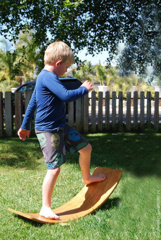 Развивающие игрушки ручной работы. Ярмарка Мастеров - ручная работа. Купить Доска балансир. Rocker board.. Handmade. Оранжевый, для равновесия