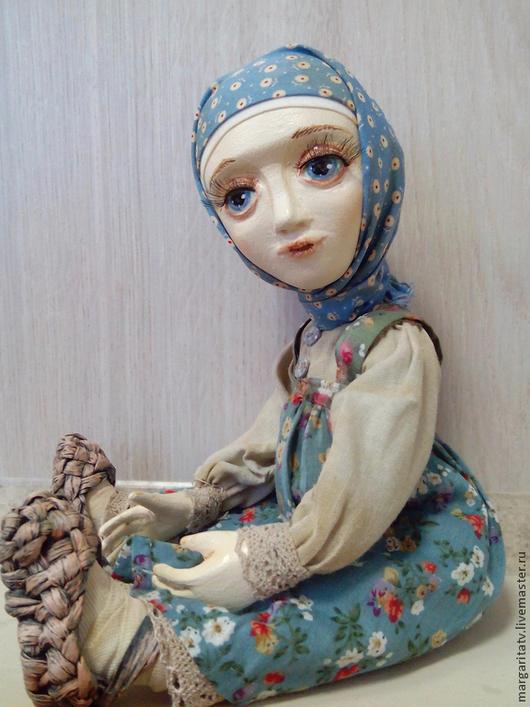Коллекционные куклы ручной работы. Ярмарка Мастеров - ручная работа. Купить Василиса. Продана... Handmade. Серый, самозастывающая глина