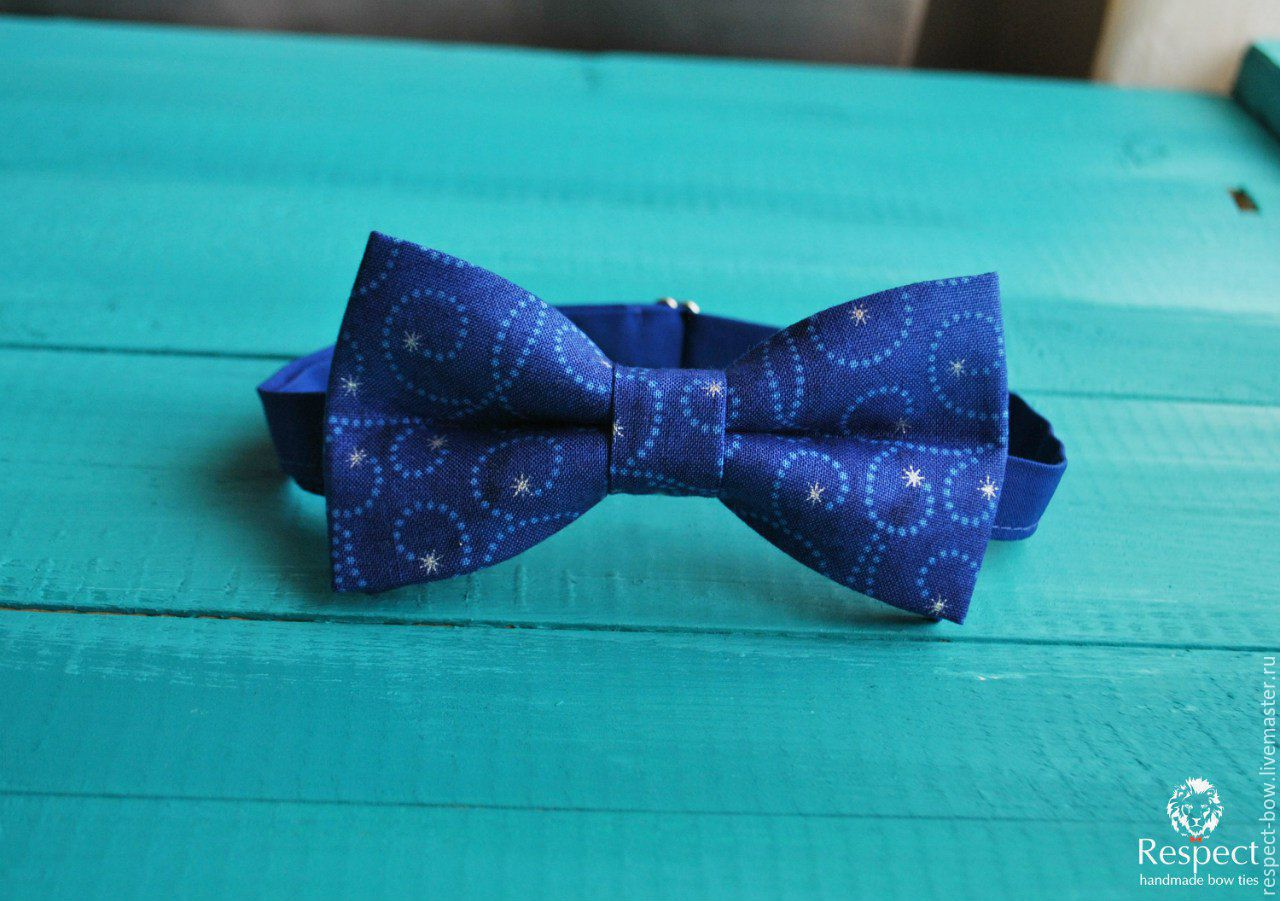 Tie Christmas night / tie necktie blue, stars, Butterflies, Moscow,  Фото №1