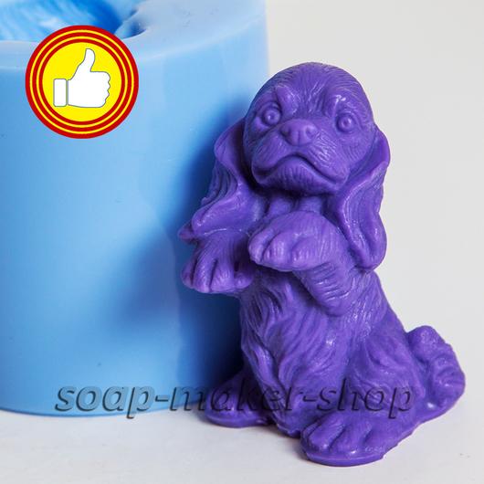 Материалы для косметики ручной работы. Ярмарка Мастеров - ручная работа. Купить Силиконовая форма для мыла «Маленький пес 2 3D». Handmade.