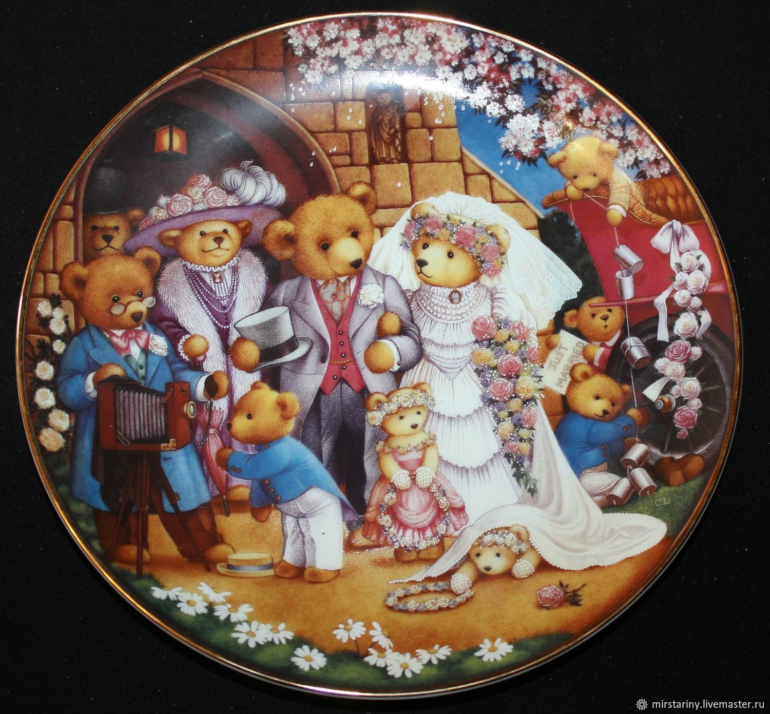 Collectible plates ' Teddy's Wedding'. Franklin Mint, Eng, Vintage interior, Moscow,  Фото №1