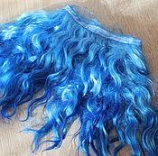 Материалы для творчества handmade. Livemaster - original item Mohair tress (blue) (Hair for dolls). Handmade.