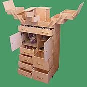 Для дома и интерьера ручной работы. Ярмарка Мастеров - ручная работа Швейный шкафчик 550мм х 250мм х 1025мм. Handmade.