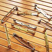 Материалы для творчества handmade. Livemaster - original item Japanese pins with 45 mm protective mechanism, brooches. Handmade.