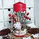 Свечи ручной работы. Ярмарка Мастеров - ручная работа. Купить Новогодняя свеча большая. Handmade. Ярко-красный, Декор