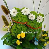 Цветы и флористика ручной работы. Ярмарка Мастеров - ручная работа Лягушата из цветов. Handmade.
