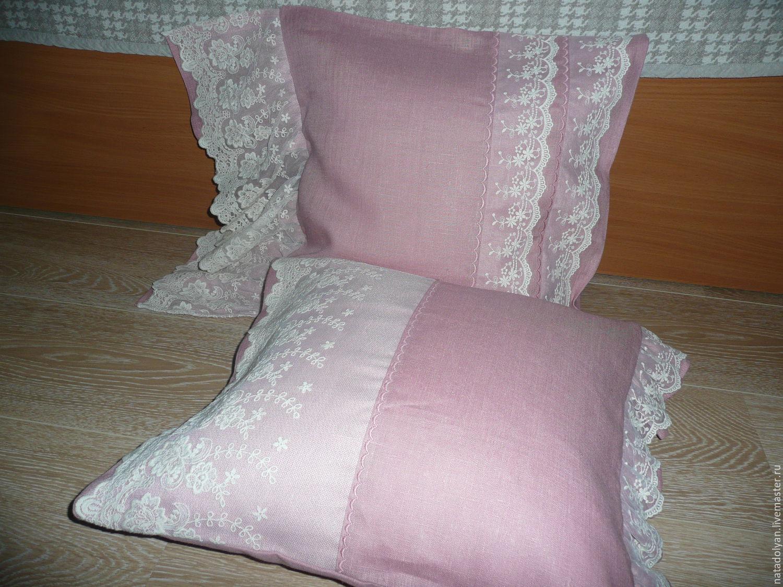 Kit linen decorative pillow case' Vintage & Len', Pillow, Ivanovo,  Фото №1
