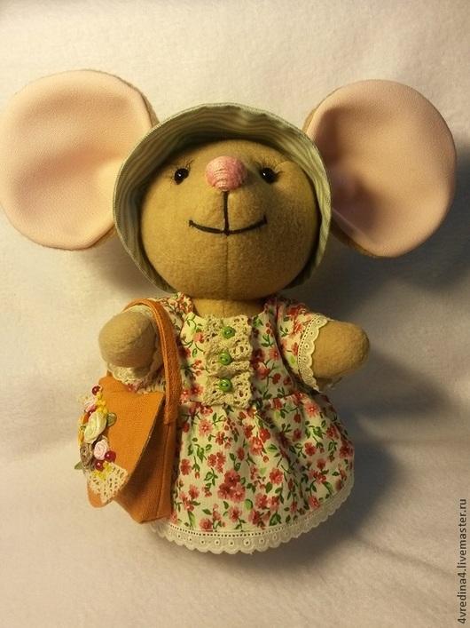 Куклы Тильды ручной работы. Ярмарка Мастеров - ручная работа. Купить Большеухая мышка. Handmade. Бежевый, текстильная игрушка