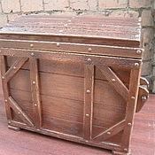 Для дома и интерьера ручной работы. Ярмарка Мастеров - ручная работа Сундук состаренный. Handmade.