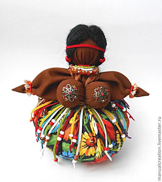 """Народные куклы ручной работы. Ярмарка Мастеров - ручная работа. Купить Травница """"Мулатка-Шоколадка"""". Handmade. Кубышка-травница, хлопок"""