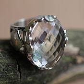 Украшения ручной работы. Ярмарка Мастеров - ручная работа 17. 5 перстень  кольцо серебряное с горным 25. Handmade.