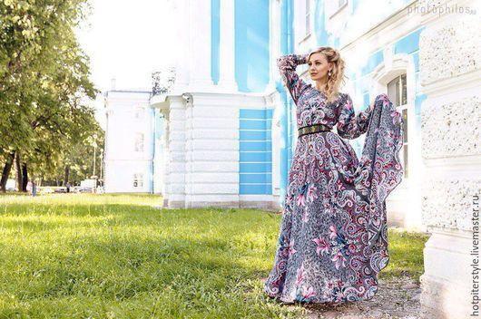 Платье в Русском стиле , платье из платков, стиль А-ля Русс. Ручная работа. Эксклюзив.