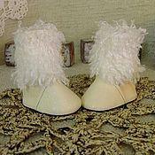 Куклы и игрушки ручной работы. Ярмарка Мастеров - ручная работа Обувь для кукол . Сапоги с мехом. Кожа .. Handmade.