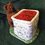 Для дома и интерьера ручной работы. Ярмарка Мастеров - ручная работа Медвежонок и малина. Handmade.