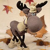 Куклы и игрушки handmade. Livemaster - original item moose. Walk in the woods.. Handmade.