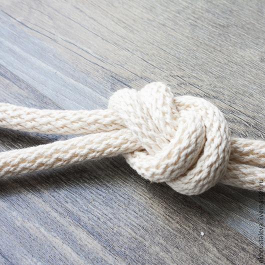 Шитье ручной работы. Ярмарка Мастеров - ручная работа. Купить Шнур хлопковый, плетеный, 10 мм. Handmade. Бежевый