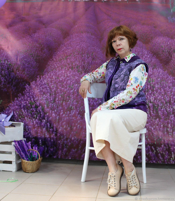Vest felted Lavender, Vests, Verhneuralsk,  Фото №1