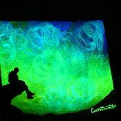 Картины и панно handmade. Livemaster - original item Glowing in the dark painting