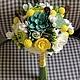 Свадебные цветы ручной работы. Ярмарка Мастеров - ручная работа. Купить СВАДЕБНЫЙ солнечный. Handmade. Желтый, букет невесты, лотос