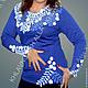 """Блузки ручной работы. Ярмарка Мастеров - ручная работа. Купить Блуза """"Сакура""""-2 мод.№410. Handmade. Блузка нарядная"""