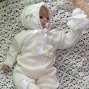 Работы для детей, ручной работы. Ярмарка Мастеров - ручная работа Белые облака комплект для новорожденного. Handmade.