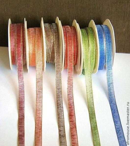 ленты 1 см, узкие цветные фактурные