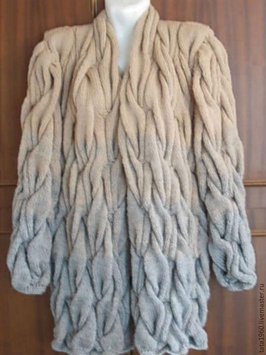 Кофты и свитера ручной работы. Ярмарка Мастеров - ручная работа. Купить Кардиган вязаный косами. Handmade. Разноцветный, рисунок