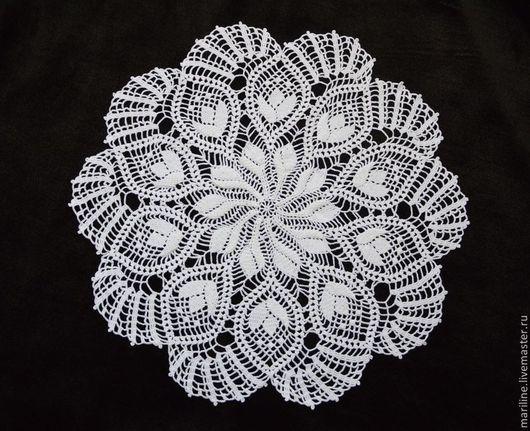 Текстиль, ковры ручной работы. Ярмарка Мастеров - ручная работа. Купить Салфетка Тюльпаны. Handmade. Белый, кружевная салфетка