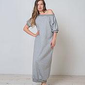 Одежда ручной работы. Ярмарка Мастеров - ручная работа Длинное теплое платье Gray Stone. Handmade.