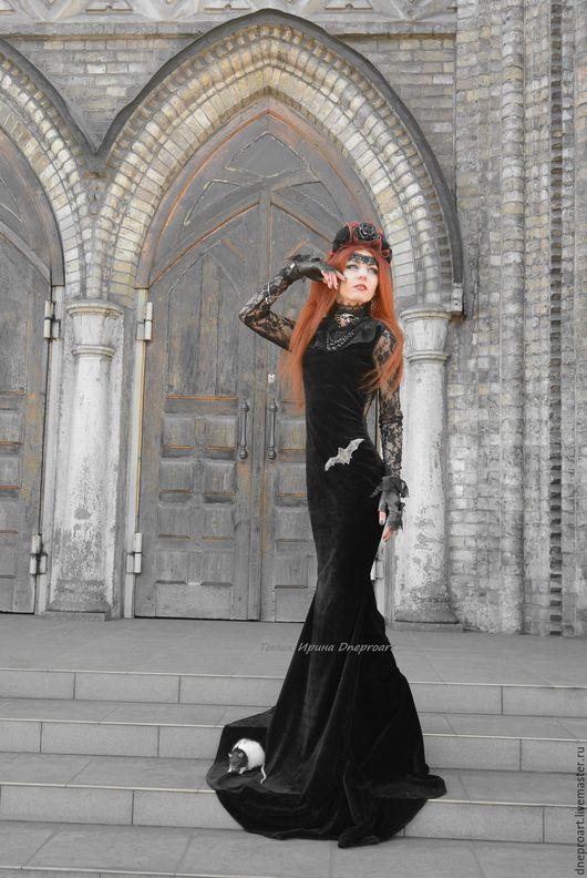 """Платья ручной работы. Ярмарка Мастеров - ручная работа. Купить Платье """"Черная Принцесса"""". Handmade. Черный, платье из бархата"""