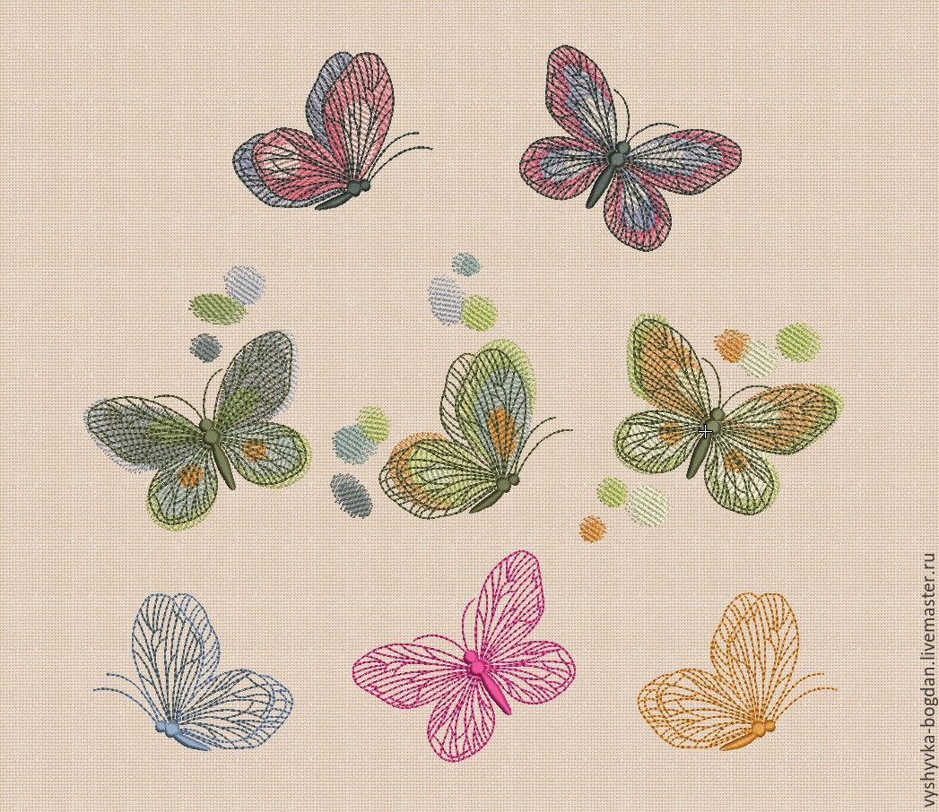 Machine embroidery designs spring butterfly bt shop