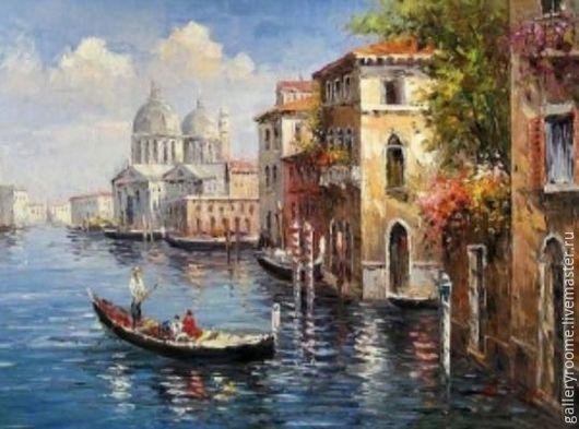 Другие виды рукоделия ручной работы. Ярмарка Мастеров - ручная работа. Купить Картина-раскраска по номерам на холсте Венецианская прогулка. Handmade.
