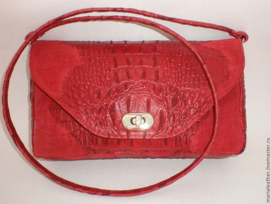 Женские сумки ручной работы. Ярмарка Мастеров - ручная работа. Купить Красный клатч. Handmade. Ярко-красный, красная сумка