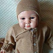 Работы для детей, ручной работы. Ярмарка Мастеров - ручная работа Комбинезон для новорожденных Бежевый из шерсти. Handmade.