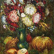 Картины и панно ручной работы. Ярмарка Мастеров - ручная работа Фрукты, цветы, тыква. Handmade.