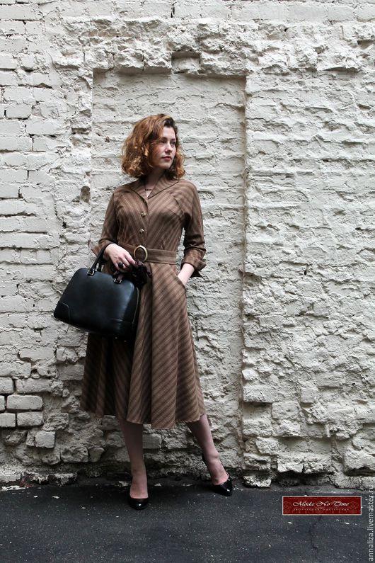"""Платья ручной работы. Ярмарка Мастеров - ручная работа. Купить Платье в ретро стиле из шерсти """"Бизнес леди"""". Handmade."""