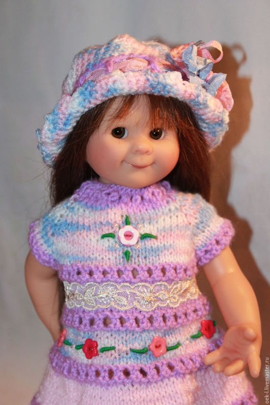Одежда для кукол ручной работы. Ярмарка Мастеров - ручная работа. Купить Наряд для Вихтеля. Handmade. Голубой, платье, вышивка Рококо