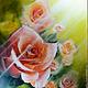 Картины цветов ручной работы. Ярмарка Мастеров - ручная работа. Купить Картина маслом на холсте Розы. Handmade. Ярко-красный