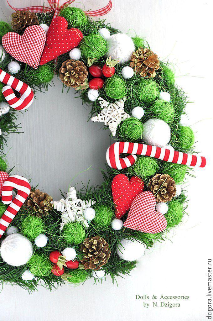Весёлое Рождество. Интерьерный веночек, новогодний декор, Подарки, Королев, Фото №1