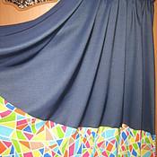 Одежда ручной работы. Ярмарка Мастеров - ручная работа Юбка в пол с цветной полосой внизу. Handmade.