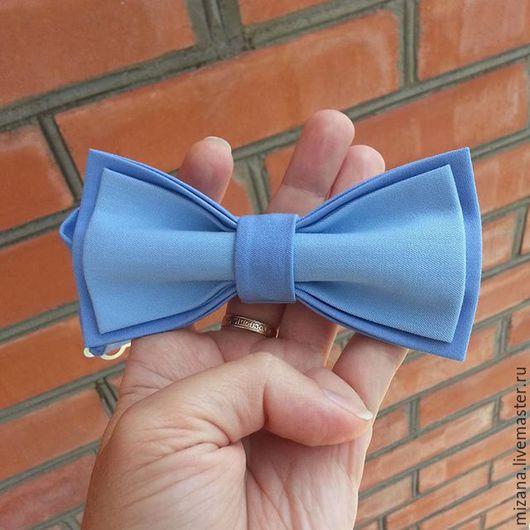 """Галстуки, бабочки ручной работы. Ярмарка Мастеров - ручная работа. Купить Галстук-бабочка """"Небесная"""". Handmade. Голубой, голубой цвет"""