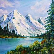 Картины и панно handmade. Livemaster - original item Mountain lake. Handmade.