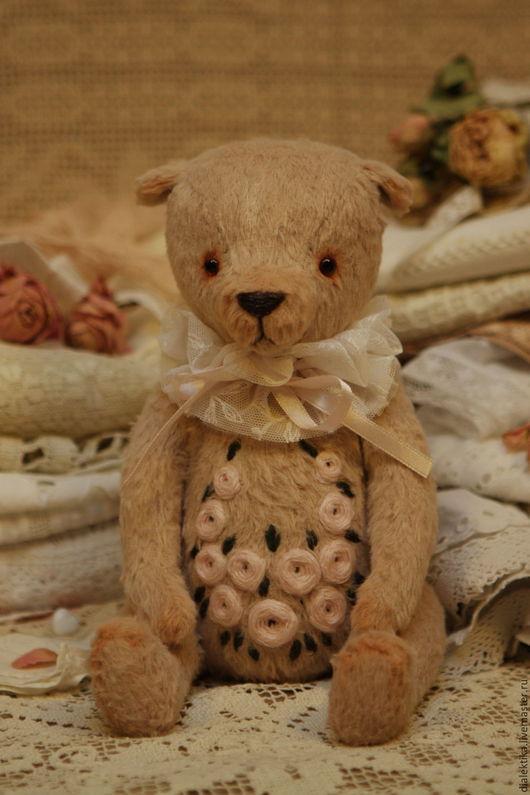 Мишки Тедди ручной работы. Ярмарка Мастеров - ручная работа. Купить Рози. Handmade. Бледно-розовый, розовый мишка