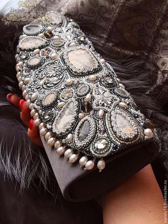 handbag-clutch 'El Palazzo' in silver, Clutches, Lviv,  Фото №1