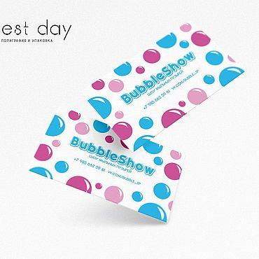 Дизайн и реклама ручной работы. Ярмарка Мастеров - ручная работа Макет визитки на заказ. Handmade.