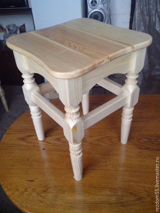 Мебель ручной работы. Ярмарка Мастеров - ручная работа. Купить Табурет кухонный. Handmade. Точеный, ручная работа, в наличии, берёза