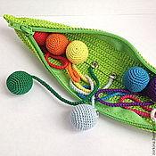 Куклы и игрушки ручной работы. Ярмарка Мастеров - ручная работа Развивающая игрушка Стручок гороха. Handmade.
