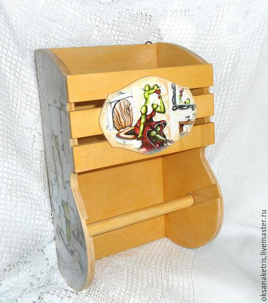 Ванная комната ручной работы. Ярмарка Мастеров - ручная работа. Купить Держатель туалетной бумаги Легкость бытия)))). Handmade.