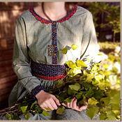 Одежда ручной работы. Ярмарка Мастеров - ручная работа Зелёное платье. Handmade.